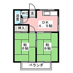 コーポ・サンライズ[2階]の間取り