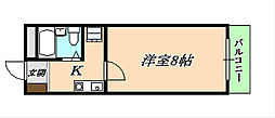 コウアロイヤル垂水[5階]の間取り