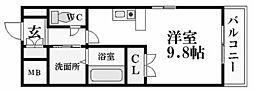 兵庫県西宮市松下町の賃貸マンションの間取り