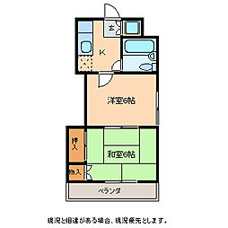 長野県飯田市松尾代田の賃貸アパートの間取り