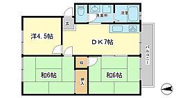 グリーンハイツ田寺[2階]の間取り