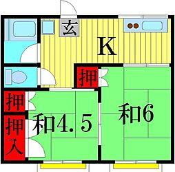 栄コーポ[2階]の間取り