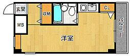 サンオーニック南武庫之荘[204号室]の間取り