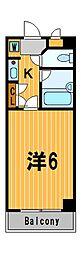 神奈川県川崎市中原区新城2の賃貸マンションの間取り