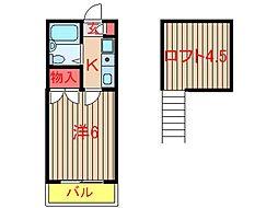 メゾンプレジールI (0056)[202号室]の間取り