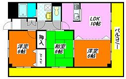 グランドゥール・シェソワ 201号室[2階]の間取り
