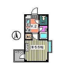 東京都江戸川区西葛西6の賃貸マンションの間取り