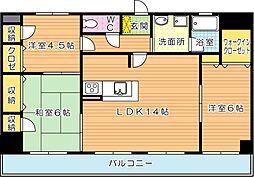 パラシオ二島(特優賃)[9階]の間取り