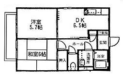 サーン山手住宅[2階]の間取り