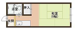 エステートピア889[2B号室]の間取り
