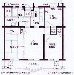 ジュネラス横浜[3階]の間取り