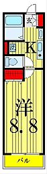 クレール梅田[1階]の間取り