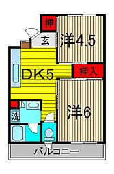 ブルーメンホーフ浦和元町[2階]の間取り