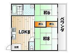 メゾン社ノ木[3階]の間取り