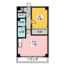 ガーデンベル[2階]の間取り