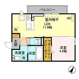 (仮)D-room寺尾台[A101号室]の間取り