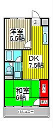 埼玉県川口市末広1の賃貸マンションの間取り