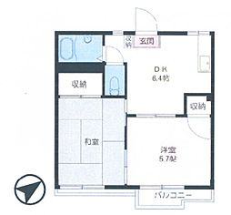 フォーブル細田[2階]の間取り