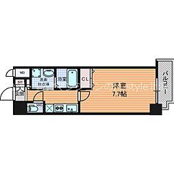 URBAN PARK梅田EAST(アーバンパークウメダイース 12階1Kの間取り