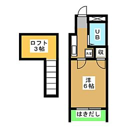 XIIエクシー八幡[1階]の間取り