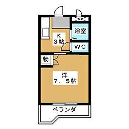 東洋ハイツ[1階]の間取り