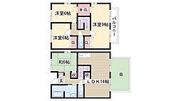 [タウンハウス] 愛知県名古屋市名東区高針台2丁目 の賃貸【/】の間取り