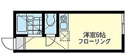 神奈川県川崎市川崎区浅田3丁目の賃貸アパートの間取り