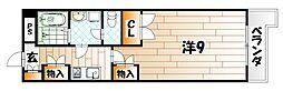 シャルマンステューディオII[2階]の間取り