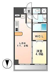 フォレシティ新栄[5階]の間取り