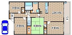 兵庫県神戸市中央区脇浜町1丁目の賃貸マンションの間取り