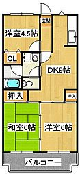 セイハ二俣[2階]の間取り