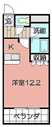 ミレニアムハイツ熊本[102号室]の間取り