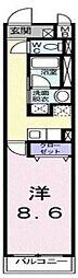 東京都荒川区東尾久2丁目の賃貸アパートの間取り