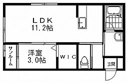 グランブルー[2階]の間取り