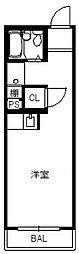 愛知県名古屋市千種区西山元町3丁目の賃貸マンションの間取り