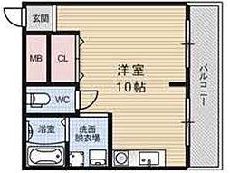 シティーパル姫島[403号室]の間取り