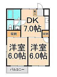 ドーブアヤセ[3階]の間取り