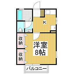 レジデンス開松[1階]の間取り