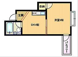 SUN高倉[5階]の間取り
