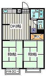 埼玉県戸田市氷川町2丁目の賃貸マンションの間取り
