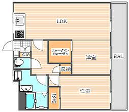 コーポ木梨[4階]の間取り