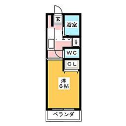 グリーン・ガレ[4階]の間取り