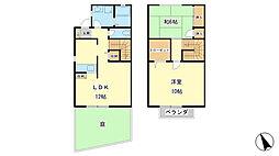 [テラスハウス] 兵庫県姫路市飾磨区中島 の賃貸【/】の間取り