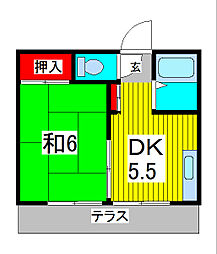 ハイツ田端[2階]の間取り