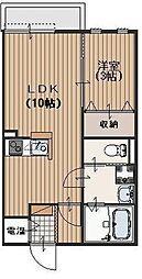 Viola A 三島1 鴻池新田11分[1階]の間取り
