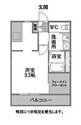 徳島県徳島市佐古一番町の賃貸アパートの間取り