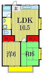 Gステージ21M-2番館[1階]の間取り