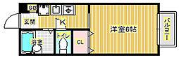 エルトベール[1階]の間取り