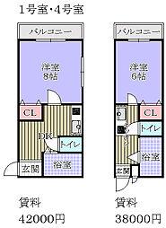 ルーキー東条マンション[1階]の間取り