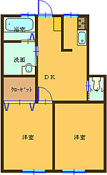 サンライフKUMAGAYA[1階]の間取り